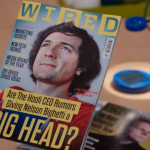 "Wired magazine featuring a fictional character ""Bighead"" from the show Silicon Valley"